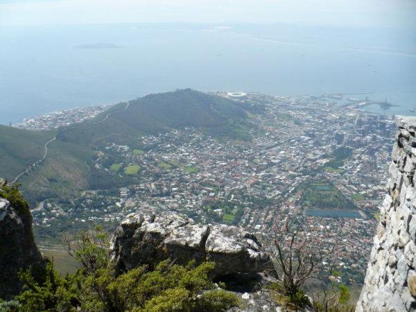 Widok z Góry Stołowej na Kapsztad